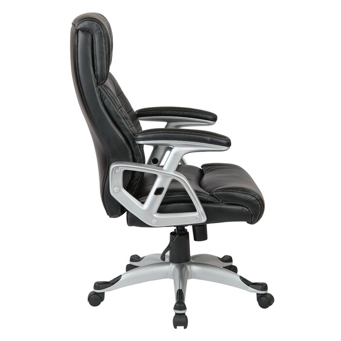 Work Smart High Back Leather Executive Chair