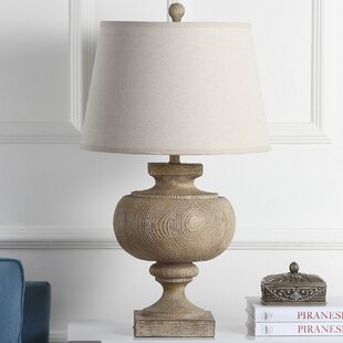 Turned wood table lamp wayfair aron wooden 31 table lamp aloadofball