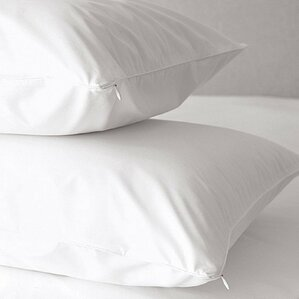 Premium 500 Thread Count Zippered Pillow Protector (Set of 2) by Home Fashion Designs