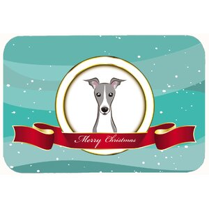 Italian Greyhound Merry Christmas Kitchen/Bath Mat