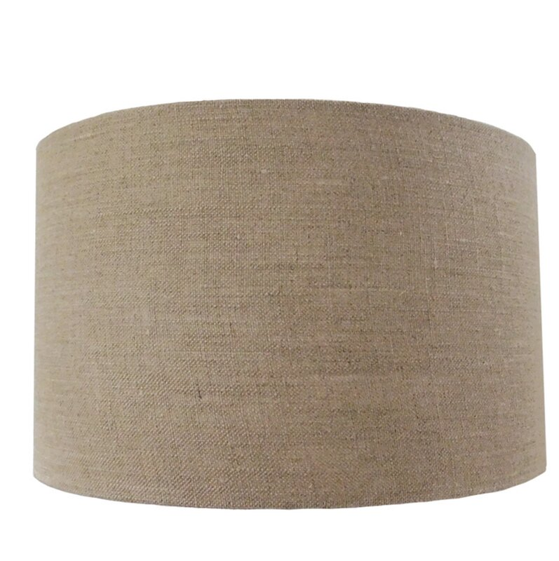 Bright life dru linen drum lamp shade reviews wayfair dru linen drum lamp shade mozeypictures Image collections