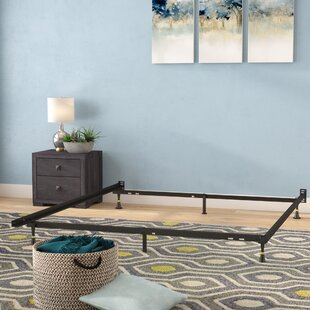 61bb0343f9b Hickerson Heavy Duty 6 Leg Adjustable Metal Bed Frame with Glide