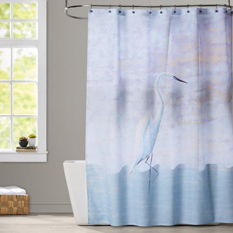Oakley Egret Animal Print Shower Curtain