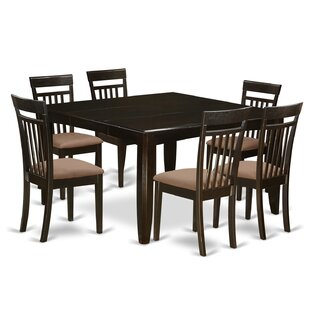 Pilning 7 Piece Extendable Solid Wood Dining Set