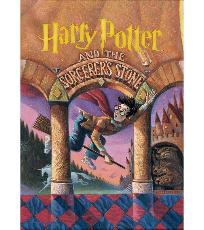 graphic about Harry Potter Book Covers Printable named Harry Potter E book Include - Sorcerers Stone Image Artwork Print