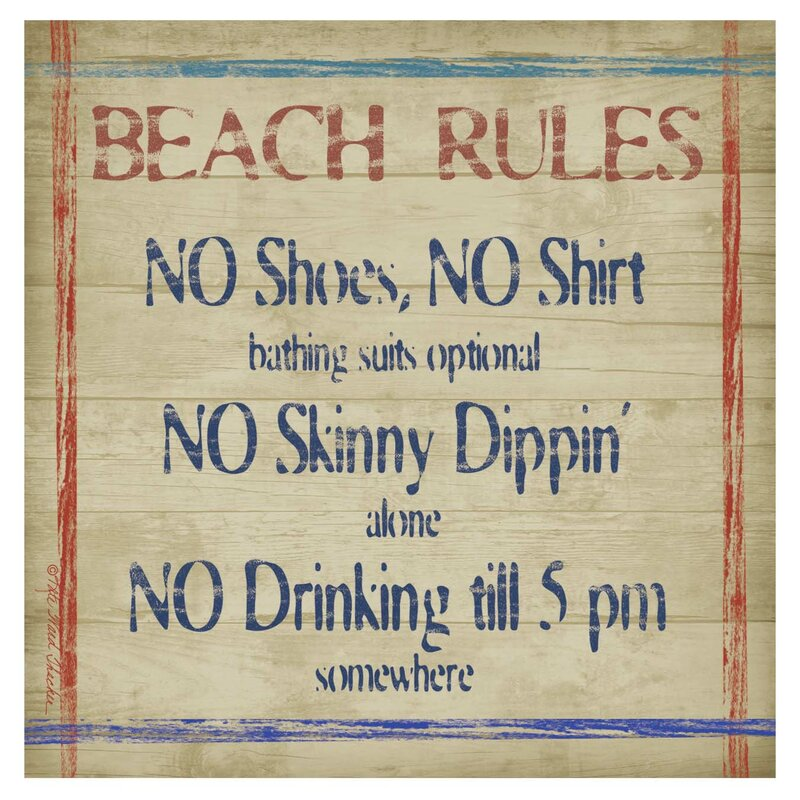 Beach Rules Occasions Coaster