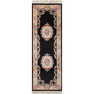 One-of-a-Kind Allen Park Hand-Knotted Wool Black Indoor Area Rug