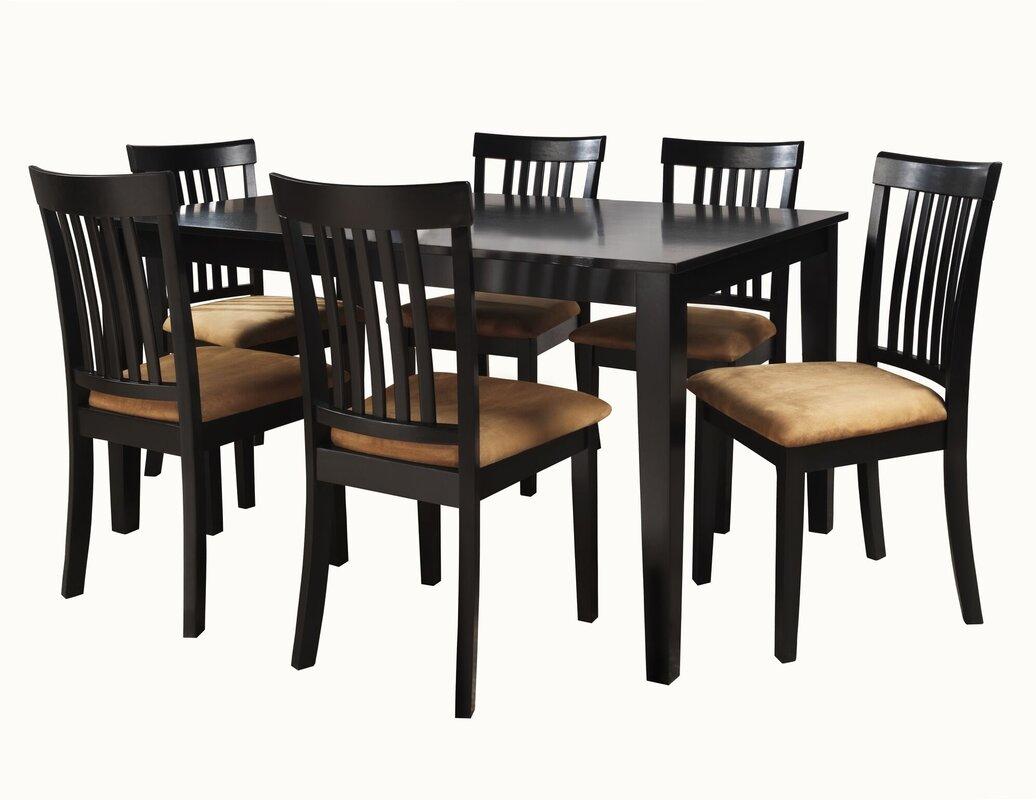 Oneill 7 Piece Wood Dining Set