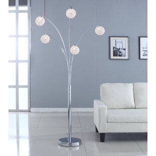 Crystal tower floor lamp wayfair quan crystal 84 tree floor lamp aloadofball Choice Image