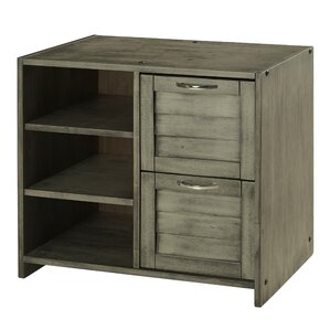 Felecia 2 Drawer Wood Chest with Shelves by Harriet Bee