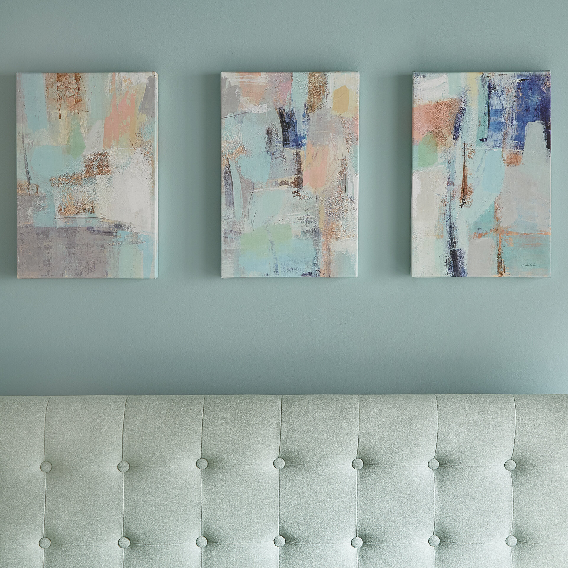 8bb30e05290 Mercury Row Morning Breeze Crop 3 Piece Painting Print on Wrapped Canvas Set    Reviews