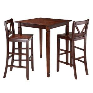 Hemphill 3 Piece Pub Table Set by Red Bar..