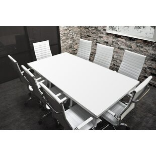 Lucidum 9 Piece 6u0027 Rectangular Conference Table Set
