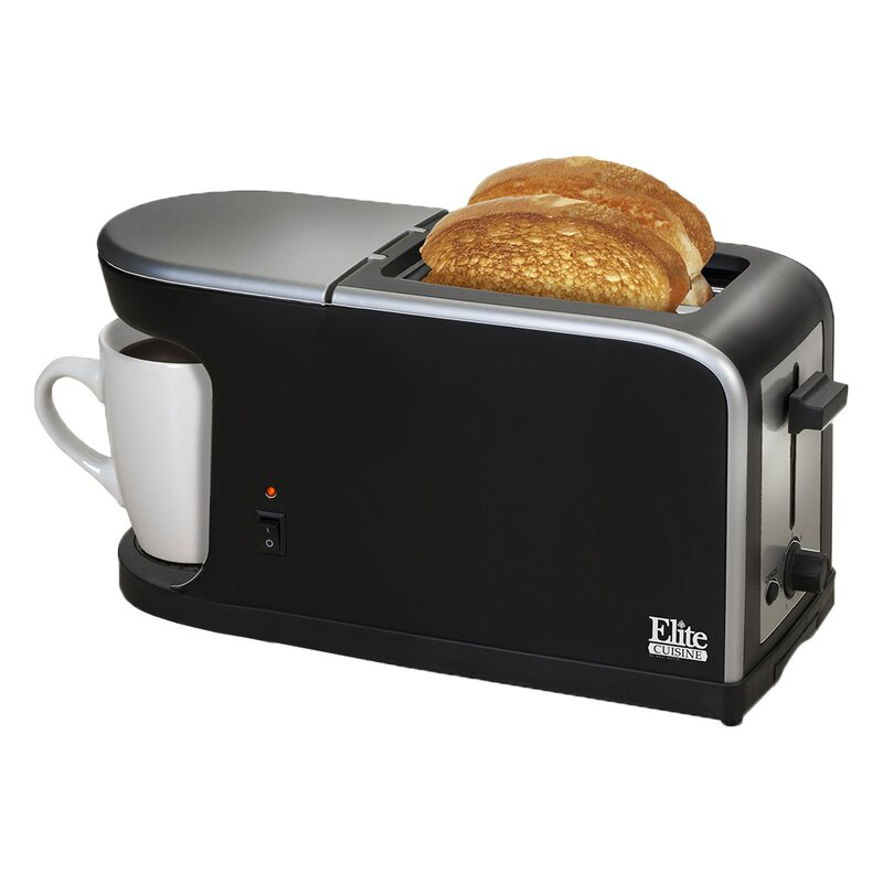 Elite by Maxi-Matic Cuisine 2-in-1 Dual Function Breakfast Station ...