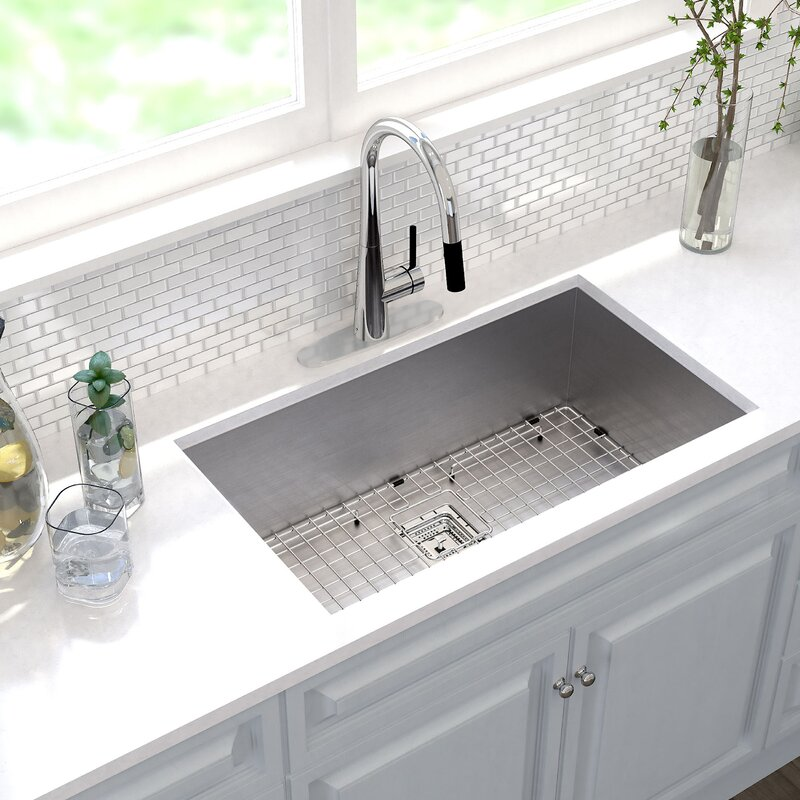 "Pax™ 31"" X 18"" Undermount Kitchen Sink With Drain Assembly"