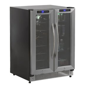 19 Bottle Dual Zone Freestanding Wine Cooler by ..