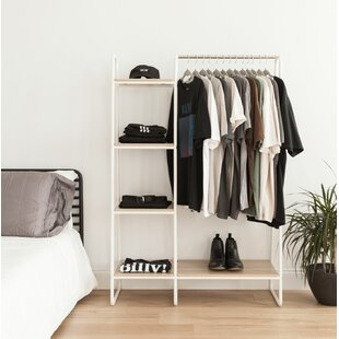clothes racks garment wardrobes you ll love rh wayfair com Target Shelves with Clothes Rack Clothing Retail Shelves