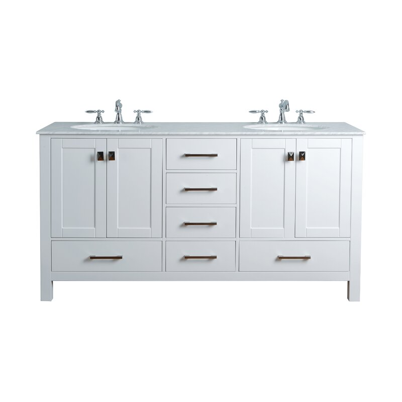 Phenomenal Bowlin 72 Double Sink Bathroom Vanity Home Interior And Landscaping Synyenasavecom