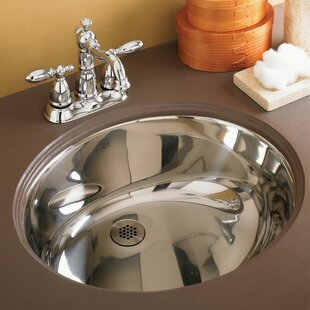 Simply Stainless Undermount Bathroom Sink With Overflow