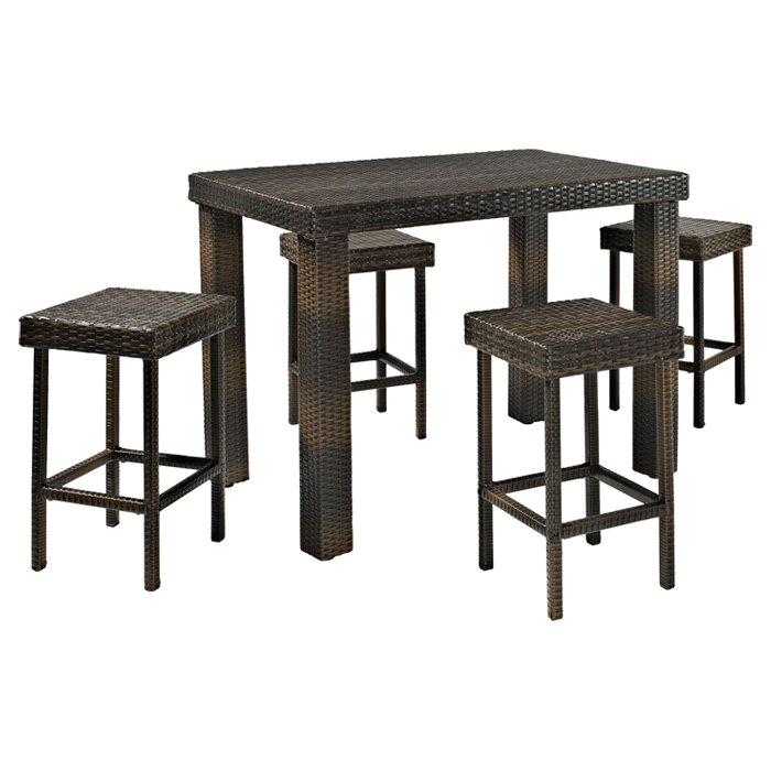 Mercury Row Belton 5 Piece Bar Height Dining Set Amp Reviews