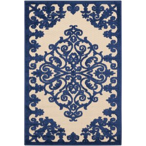 Farley Navy Indoor/Outdoor Area Rug