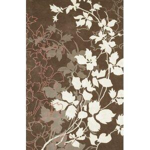 Dahlia Brown & White Area Rug