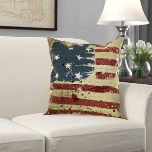 Wallingford Vintage American Flag Throw Pillow