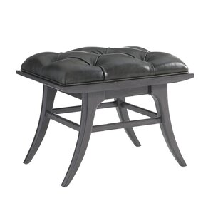 Crestaire Lena Leather Ottoman by Stanley Furniture