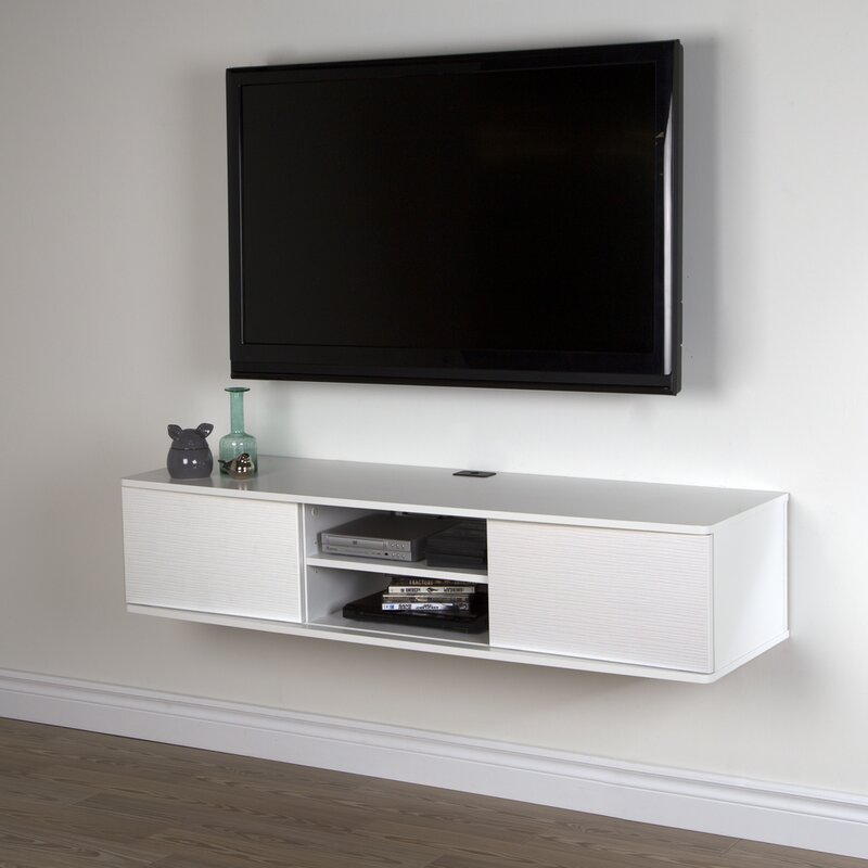 Agora Wall Mounted Media Console Tv Stand For Tvs Up To 58