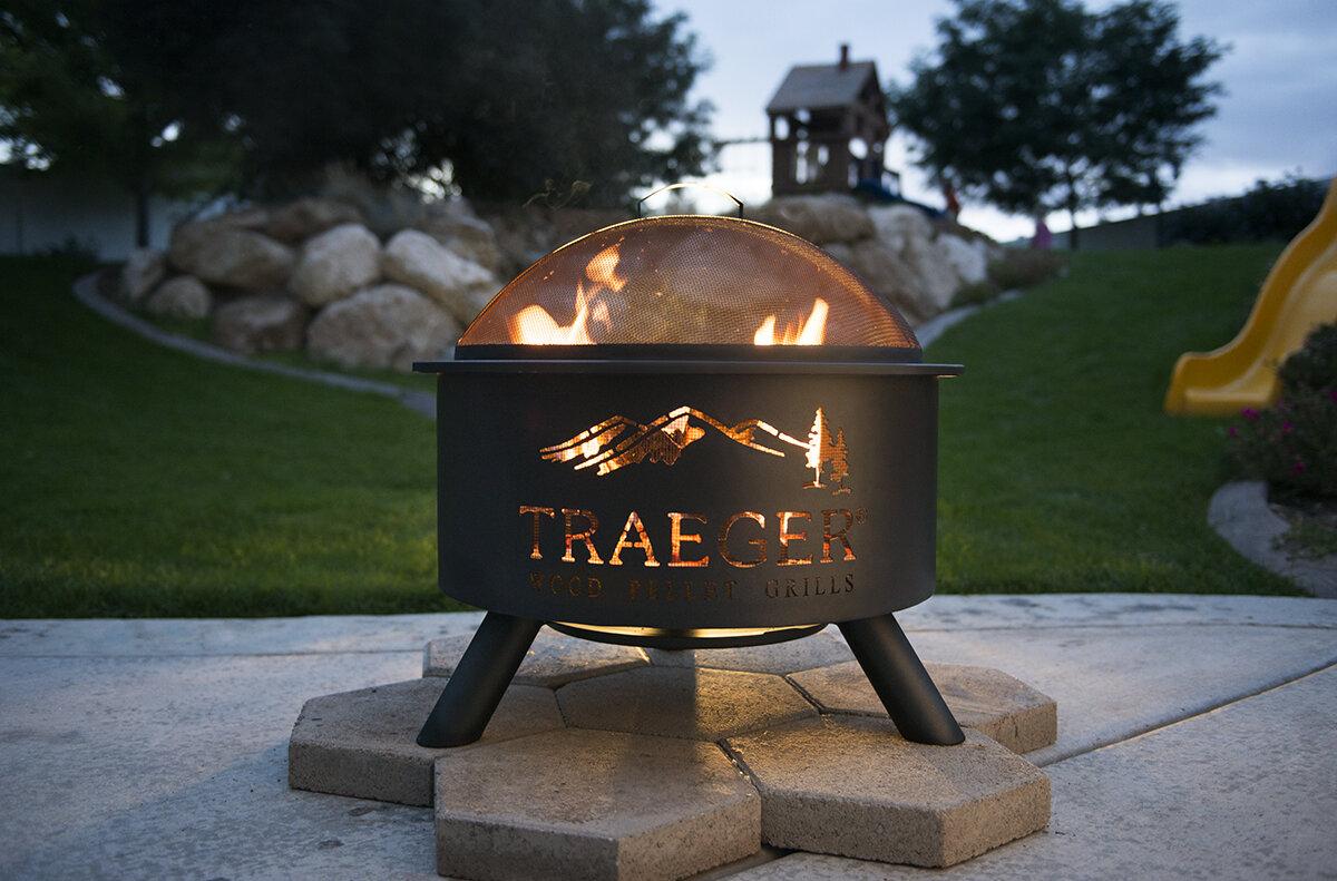 Traeger Pellet Grills Steel Wood Burning Fire Pit Amp Reviews Wayfair