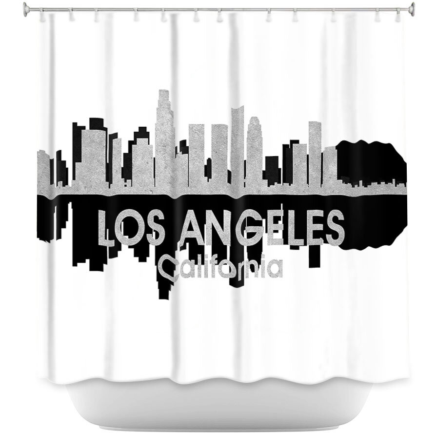 East Urban Home City IV Los Angeles California Shower Curtain