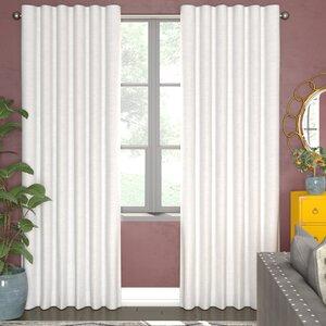 Bannerman Solid Room Darkening Thermal Rod Pocket Curtain Panels (Set of 2)