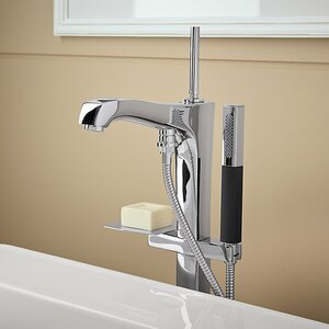 Margaux Floor Mount Bath Filler with Hand Shower