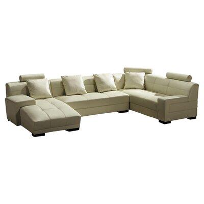 Orren Ellis Beideman Sectional Upholstery: Ivory, Orientation: Left Hand Facing