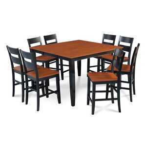Charlestown 9 Piece Wood Counter Height Dining Set by Alcott Hill