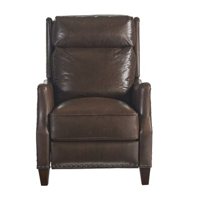 Kaleb Tufted Leather Recliner Wayfair