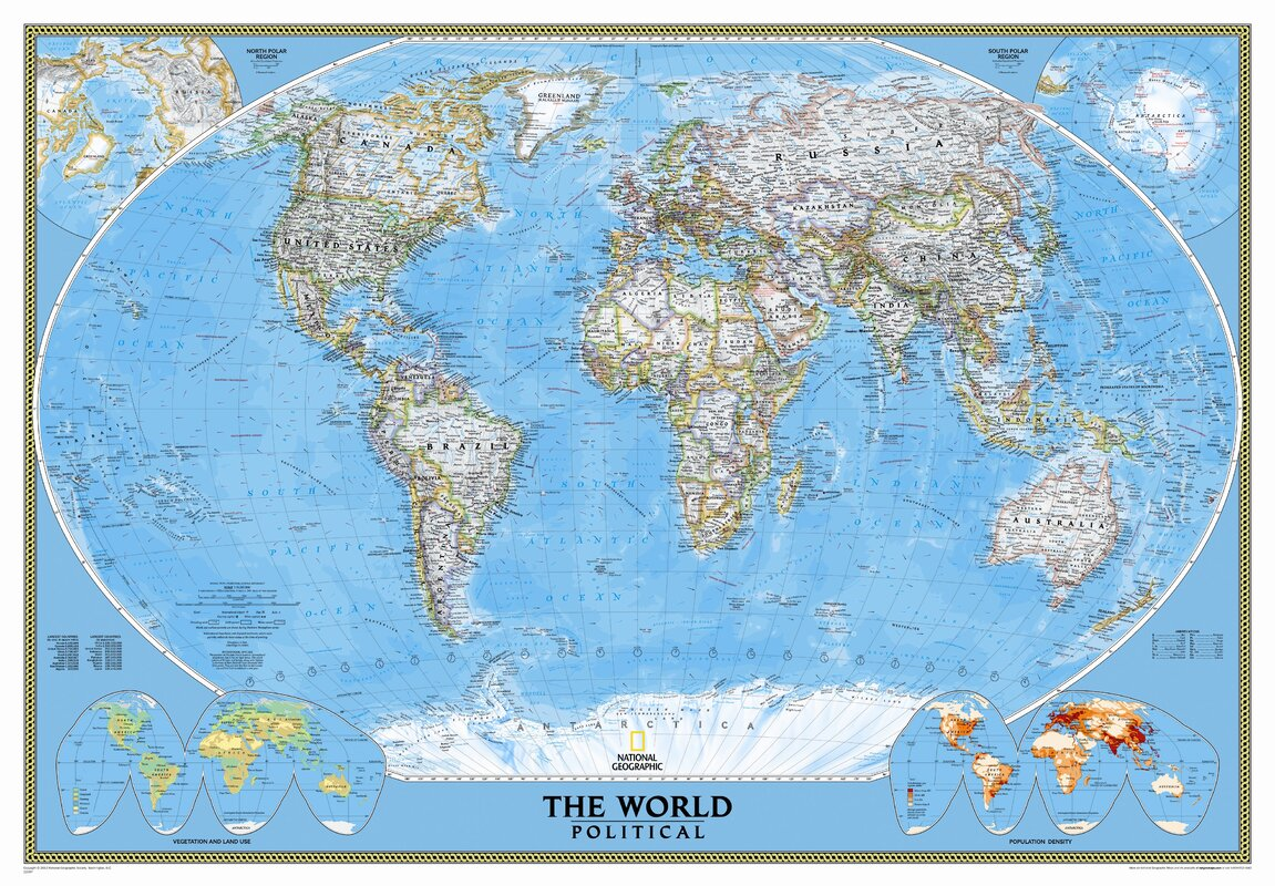 National Geographic Maps Mural World Map & Reviews