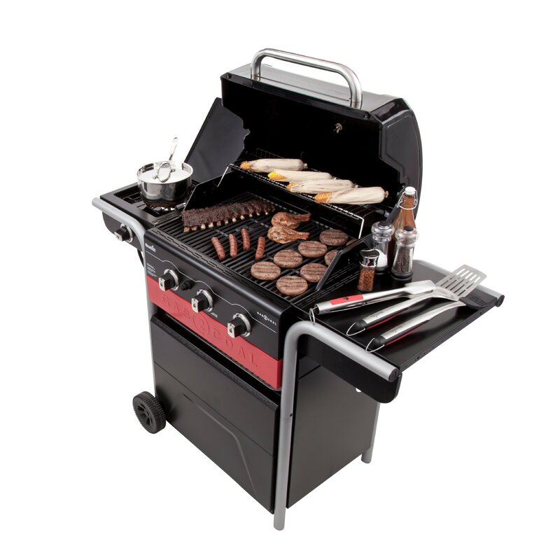 Gas2coal Charcoal And 3 Burner Propane Gas Grill