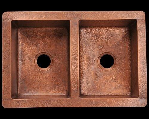 Polaris sinks 33 x 22 equal double bowl copper undermount kitchen 33 x 22 equal double bowl copper undermount kitchen sink workwithnaturefo