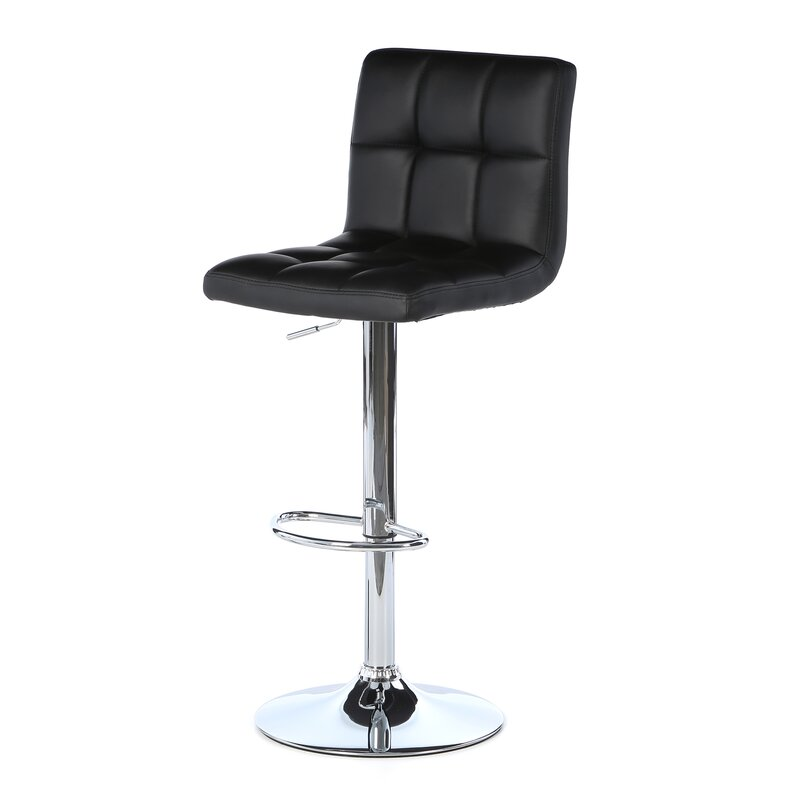 Lovely Adjustable Stool With Back Part - 10: Full Back Adjustable Height Swivel Bar Stool