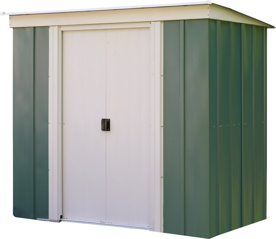 Lynton garden 6 ft w x 4 ft d metal storage shed for Garden shed 5 x 4