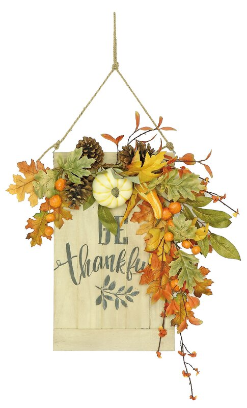 The Holiday Aisle Be Thankful Harvest Pumpkin Wall Décor & Reviews ...