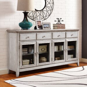 Guerrera Robins Egg 4 Door Credenza with Wire Me..