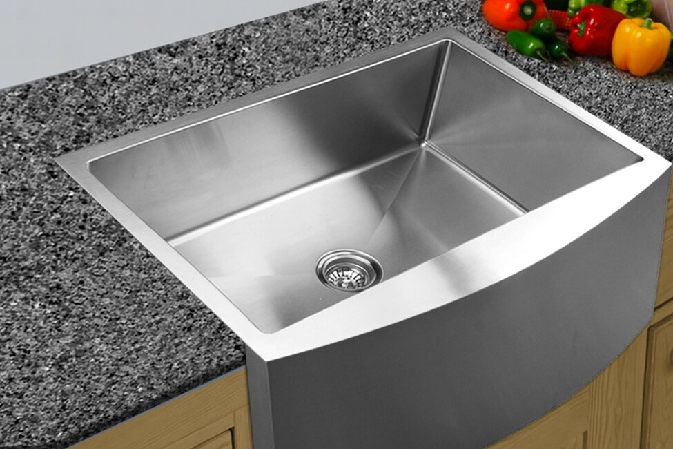 33   x 22 25   curved apron front single bowl undermount kitchen sink ukinox 33   x 22 25   curved apron front single bowl undermount      rh   wayfair com