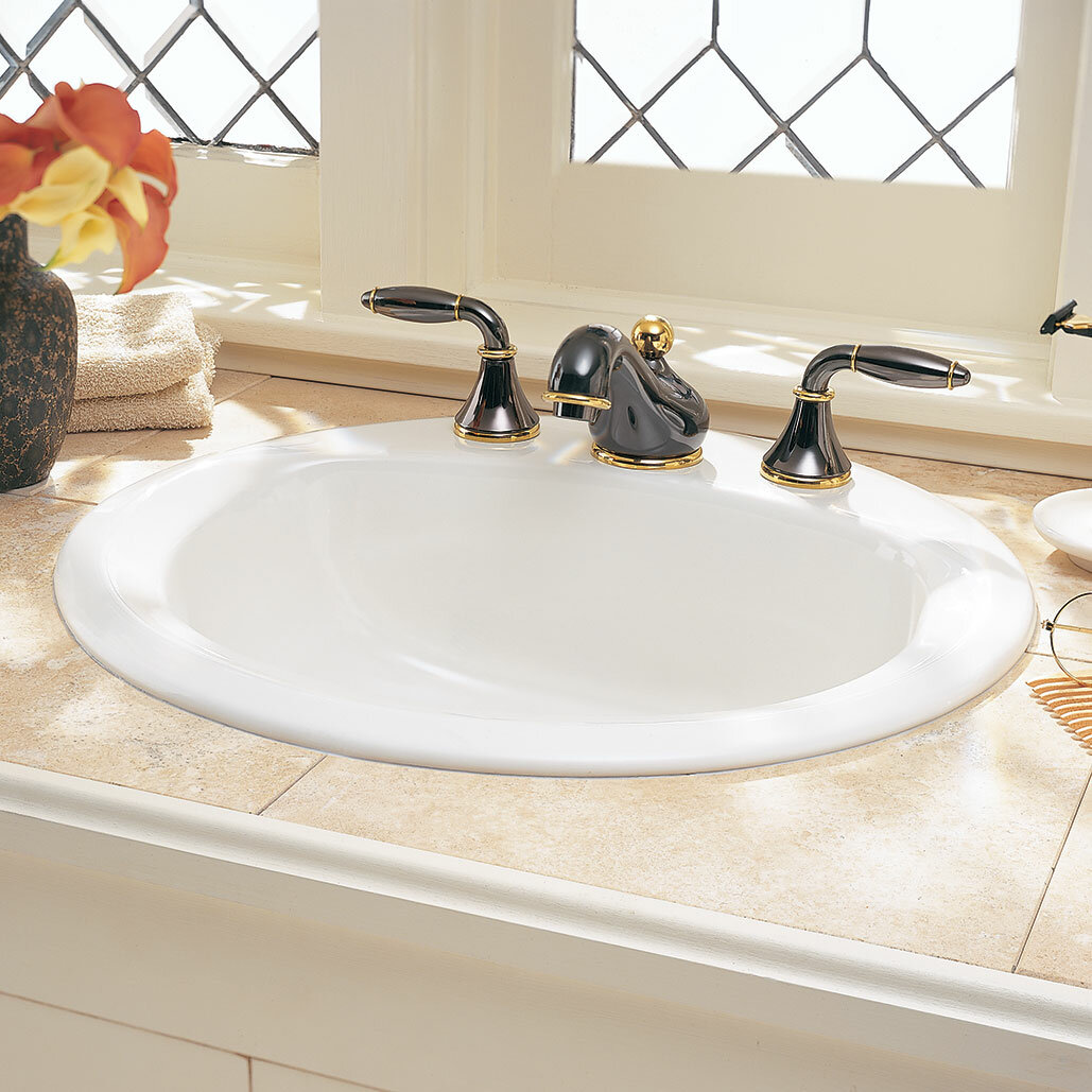 American Standard Retrospect Ceramic Circular Drop In Bathroom
