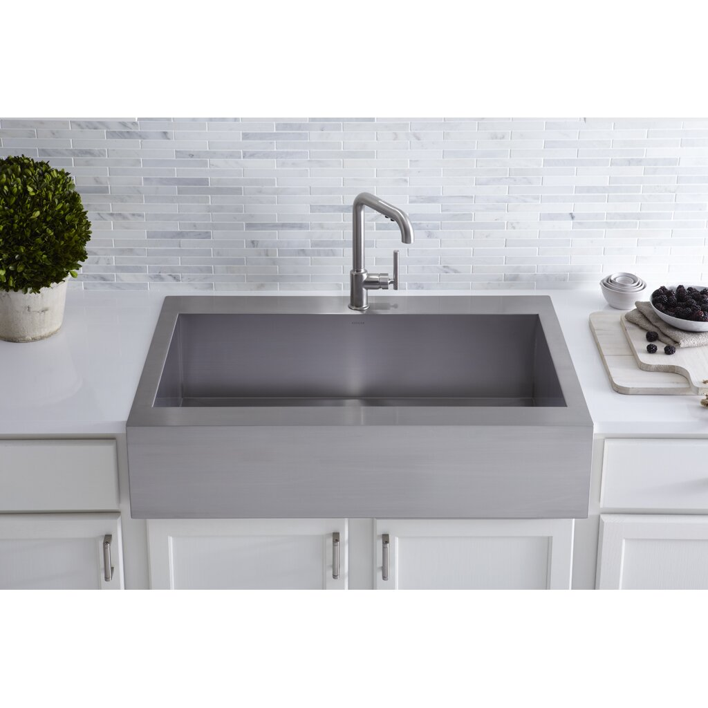 Top Mount  Kitchen Sink With Apron Front
