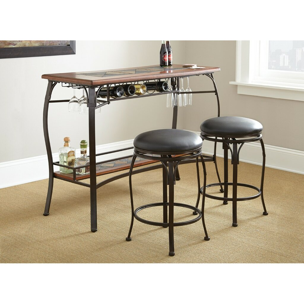 Kitchen bar table sets - Dakota 3 Piece Pub Table Set