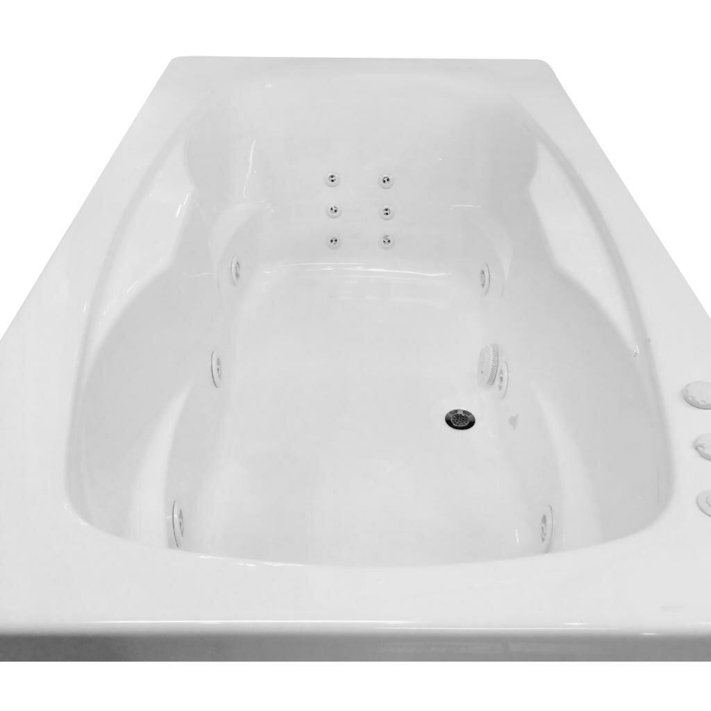 Carver tubs hygienic aqua massage 72 x 42 whirlpool bathtub wayfair - Aqua whirlpools ...