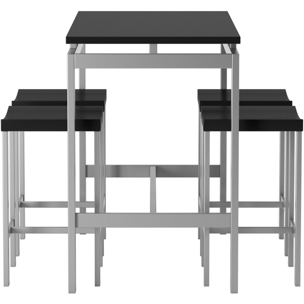 swigart 5 piece pub table set reviews allmodern. Black Bedroom Furniture Sets. Home Design Ideas