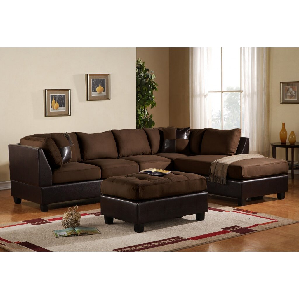 Georgetown Reversible Chaise Sectional Reviews Birch Lane